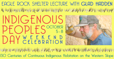 Eagle Rock Shelter Lecture with Glad Hadden on October 5th.