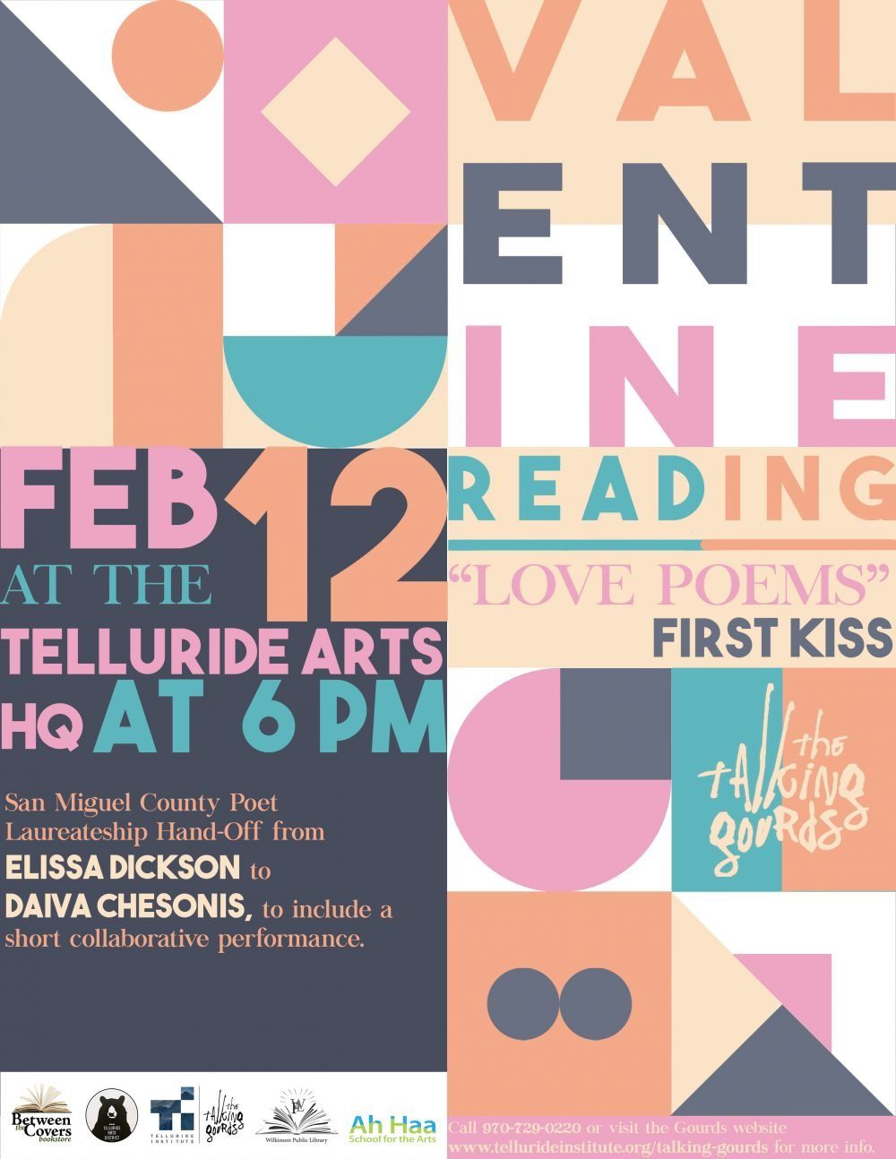 Valentine Reading with Talking Gourds! Feb. 12th
